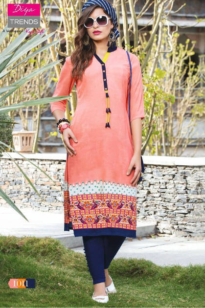 Diya Trends Gardencity Vol-1 by Kajal Style Kurti Wholesale Catalog 16 Pcs