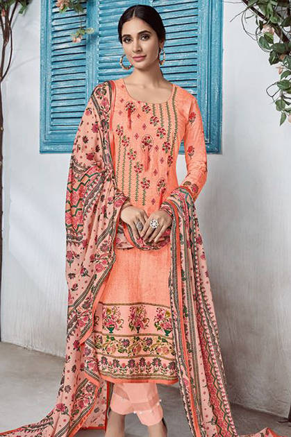 House of Lawn Nusrat Jam Silk Collection Karachi Salwar Suit Wholesale Catalog 10 Pcs
