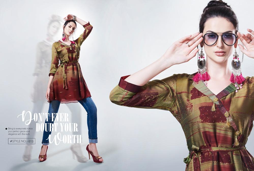 Kajree Fashion Rebel Kurti Wholesale Catalog 6 Pcs 6 - Kajree Fashion Rebel Kurti Wholesale Catalog 6 Pcs
