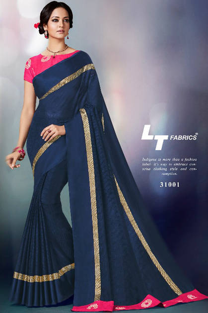 Lt Fabrics Mudra Saree Sari Wholesale Catalog 10 Pcs