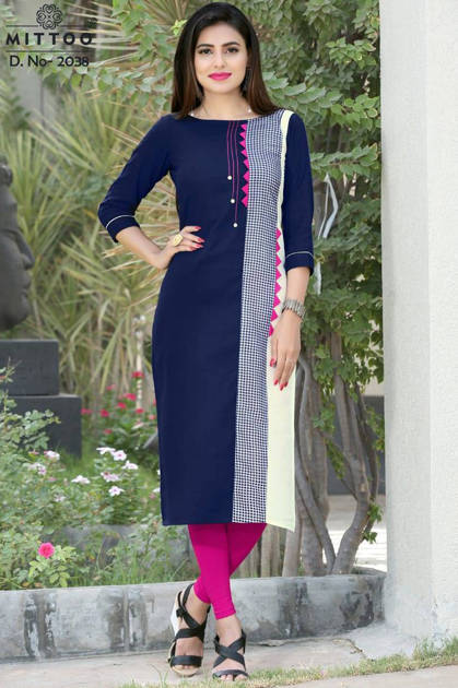 Mittoo Priyal Vol 5 Kurti Wholesale Catalog 8 Pcs