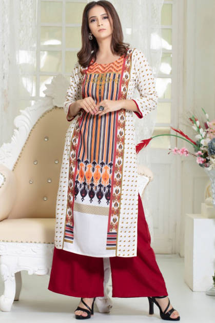 Psyna Paradise Kurti with Palazzo Wholesale Catalog 8 Pcs