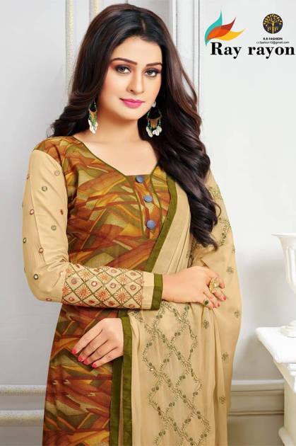 RR Fashion Ray Rayon Salwar Suit Wholesale Catalog 13 Pcs
