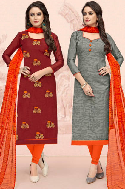 Shreeji Impex On Off Two Top Salwar Suit Wholesale Catalog 12 Pcs