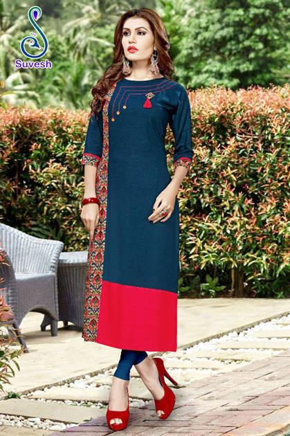Suvesh Natasha Vol 13 Kurti Wholesale Catalog 8 Pcs