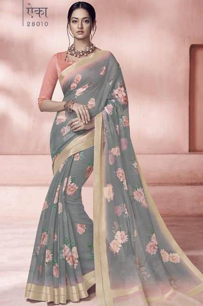 Lt Fabrics Glance Saree Sari Wholesale Catalog 10 Pcs