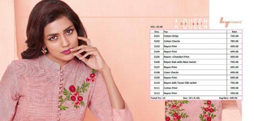 Lt Fabrics Nitya Vol 31 Nx Kurti Wholesale Catalog 12 Pcs 17 510x243 - Lt Fabrics Nitya Vol 31 Nx Kurti Wholesale Catalog 12 Pcs