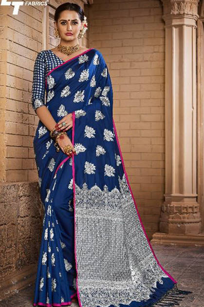 Lt Fabrics Rhythm Saree Sari Wholesale Catalog 7 Pcs