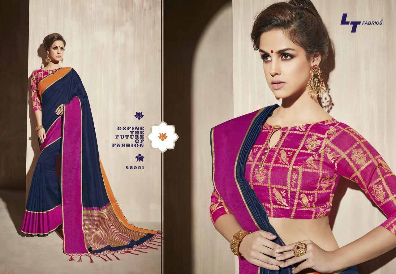 Lt Fabrics Surbhi Saree Sari Wholesale Catalog 10 Pcs 4 - Lt Fabrics Surbhi Saree Sari Wholesale Catalog 10 Pcs