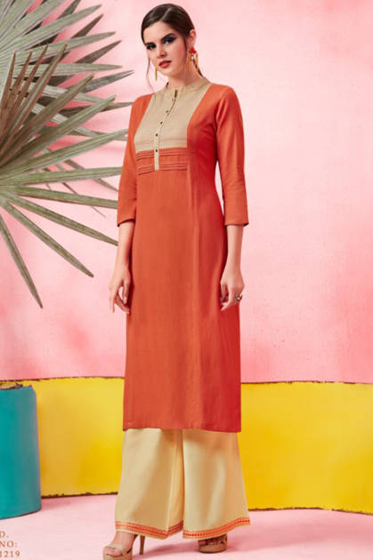 Rangoon Catwalk Kurti with Plazzo Wholesale Catalog 9 Pcs