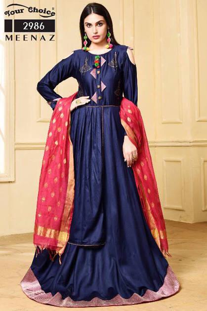 Your Choice Meenaz Salwar Suit Wholesale Catalog 5 Pcs