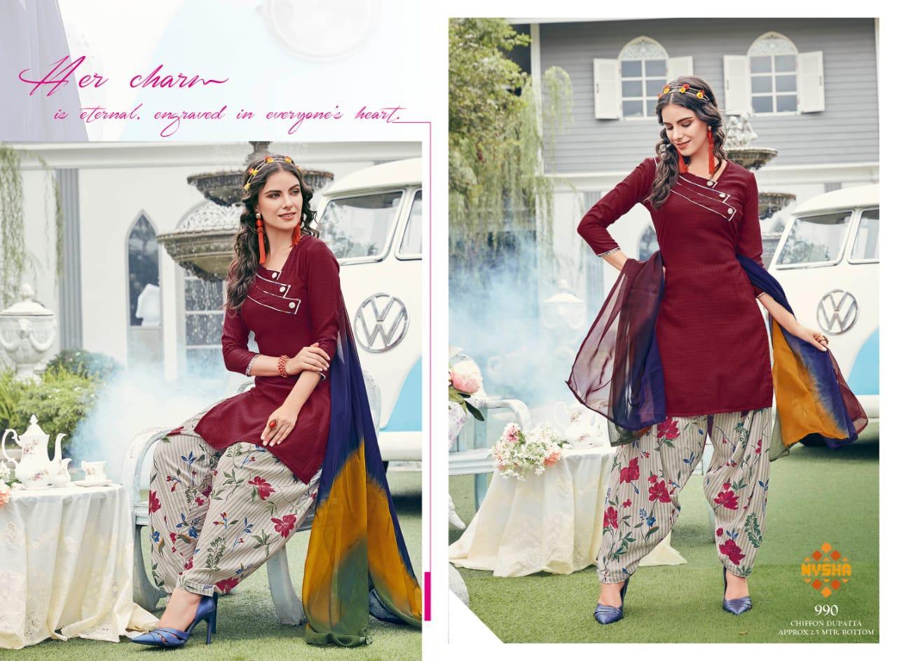 Anmol Nysha Patiyala Vol 6 Salwar Suit Wholesale Catalog 12 Pcs 5 - Anmol Nysha Patiyala Vol 6 Salwar Suit Wholesale Catalog 12 Pcs