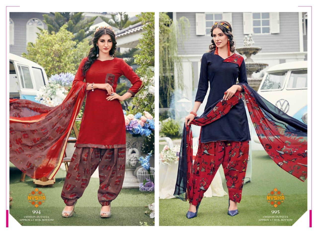 Anmol Nysha Patiyala Vol 6 Salwar Suit Wholesale Catalog 12 Pcs 6 - Anmol Nysha Patiyala Vol 6 Salwar Suit Wholesale Catalog 12 Pcs