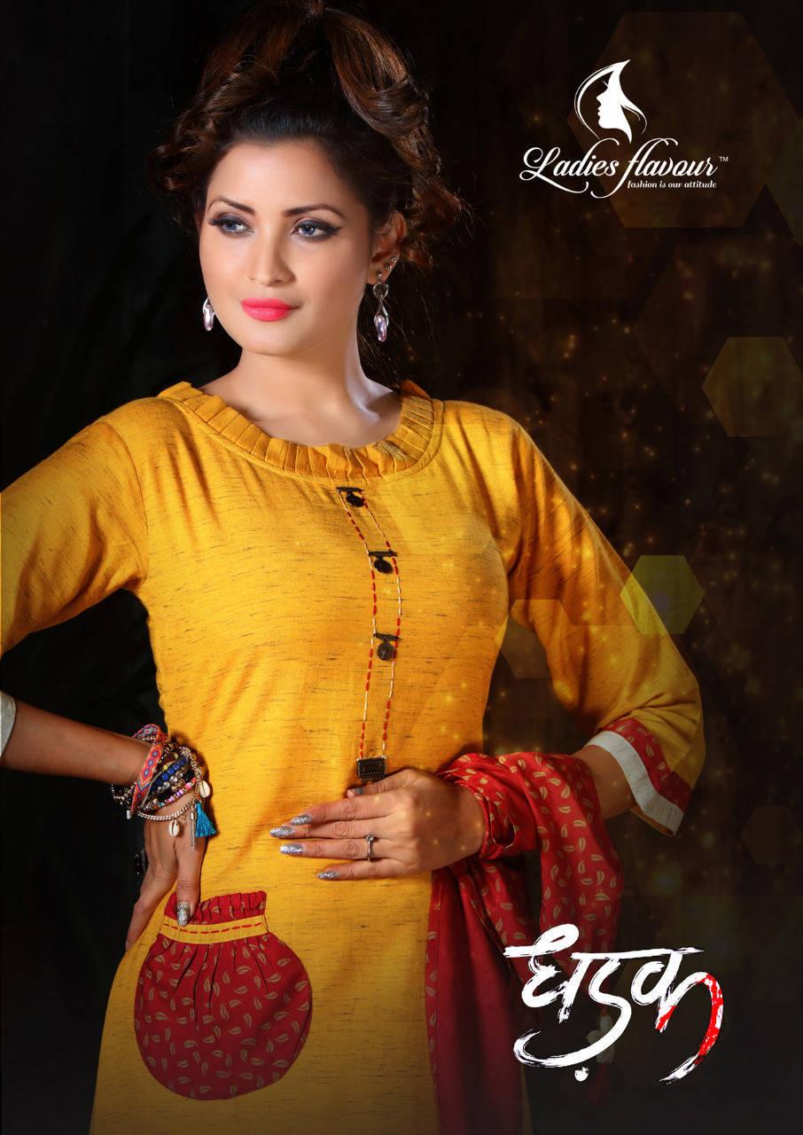 Ladies Flavour Dhadak Kurti Wholesale Catalog 6 Pcs 6 - Ladies Flavour Dhadak Kurti Wholesale Catalog 6 Pcs