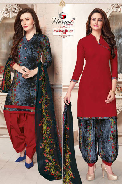 Floreon Trends Patiyala House Salwar Suit Wholesale Catalog 10 Pcs