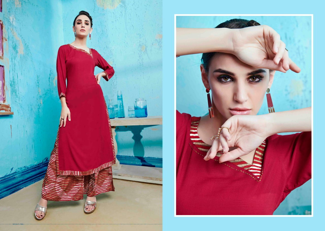 S more Baleno Vol 5 Kurti with Palazzo Wholesale Catalog 8 Pcs 1 - S More Baleno Vol 5 Kurti with Palazzo Wholesale Catalog 8 Pcs