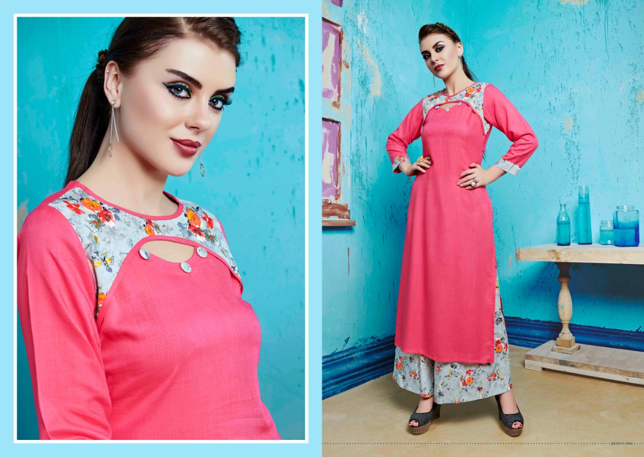 S more Baleno Vol 5 Kurti with Palazzo Wholesale Catalog 8 Pcs 3 - S More Baleno Vol 5 Kurti with Palazzo Wholesale Catalog 8 Pcs