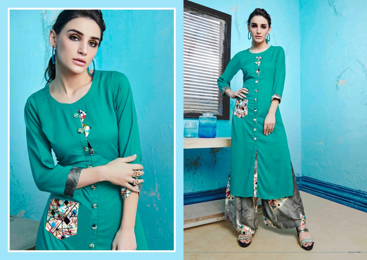S more Baleno Vol 5 Kurti with Palazzo Wholesale Catalog 8 Pcs 4 - S More Baleno Vol 5 Kurti with Palazzo Wholesale Catalog 8 Pcs