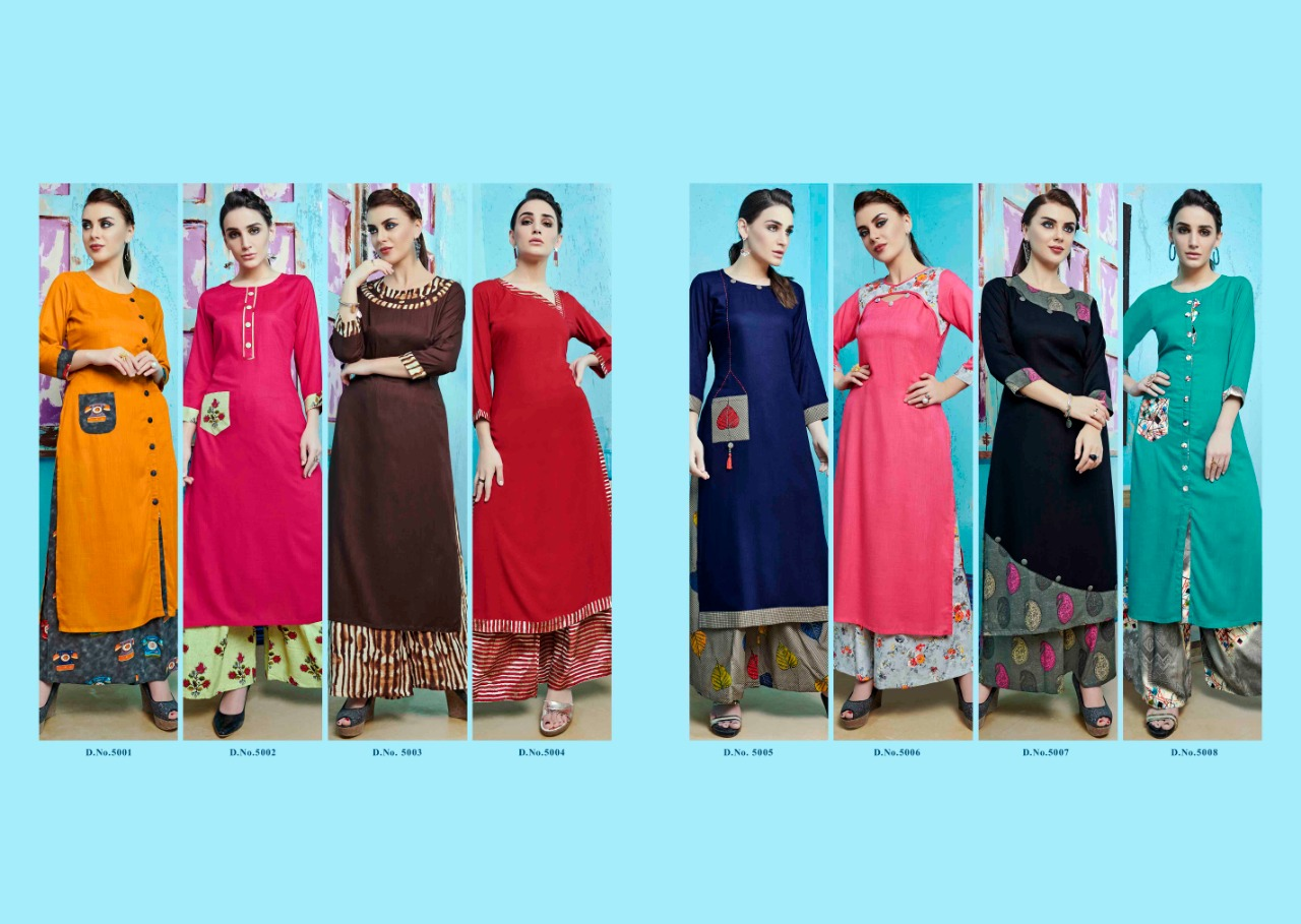 S more Baleno Vol 5 Kurti with Palazzo Wholesale Catalog 8 Pcs 6 - S More Baleno Vol 5 Kurti with Palazzo Wholesale Catalog 8 Pcs