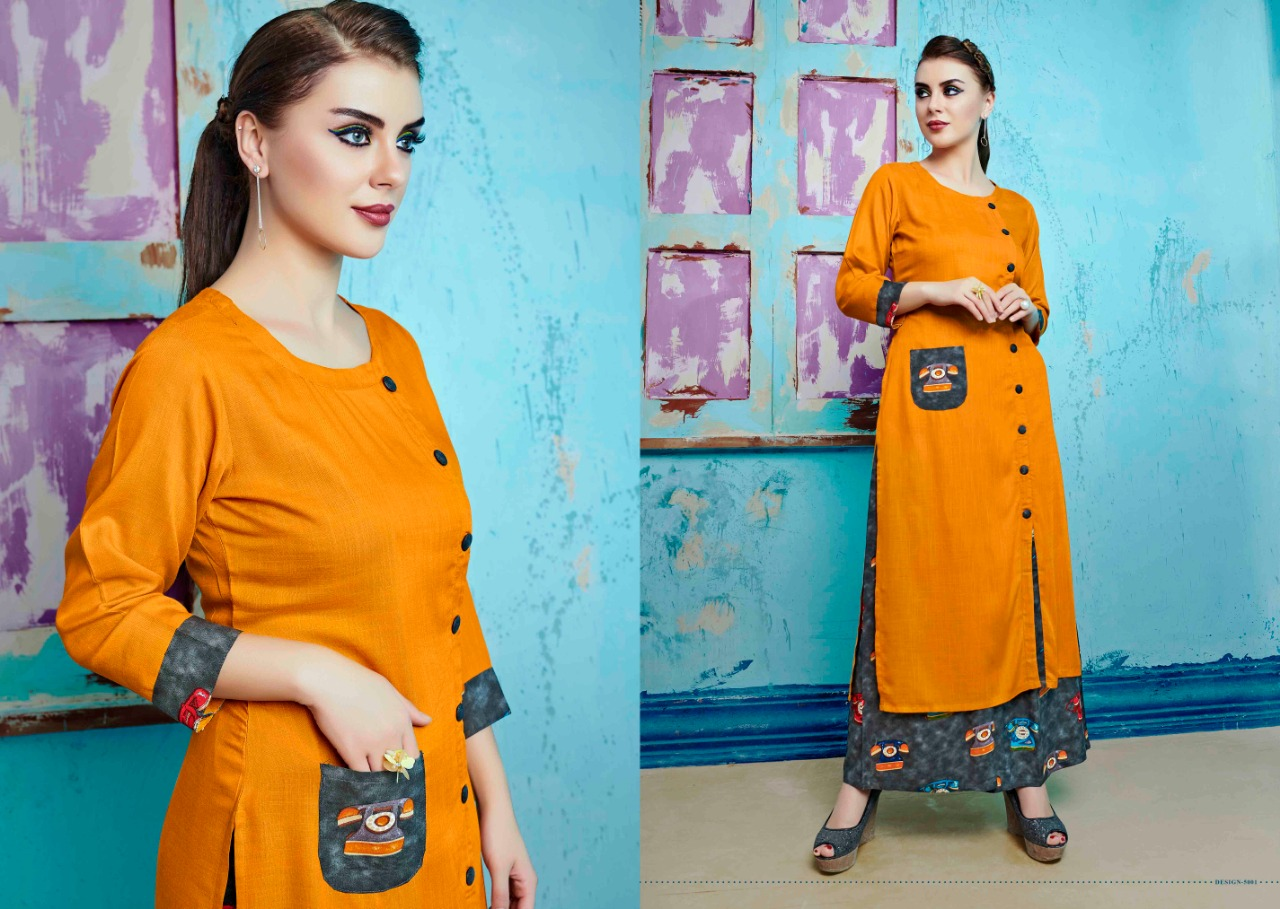 S more Baleno Vol 5 Kurti with Palazzo Wholesale Catalog 8 Pcs 7 - S More Baleno Vol 5 Kurti with Palazzo Wholesale Catalog 8 Pcs
