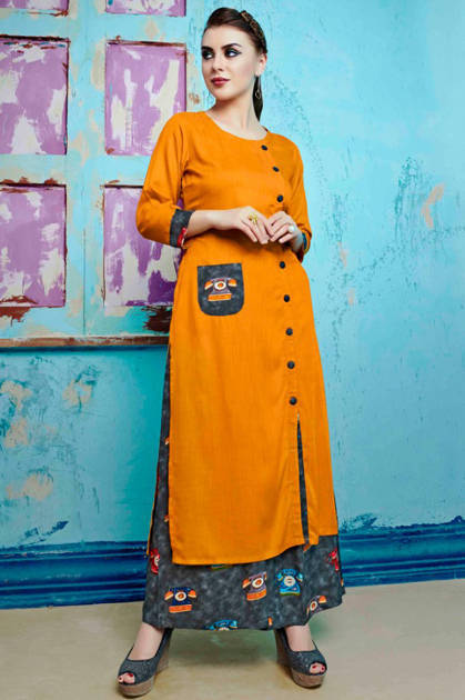 S more Baleno Vol 5 Kurti with Palazzo Wholesale Catalog 8 Pcs