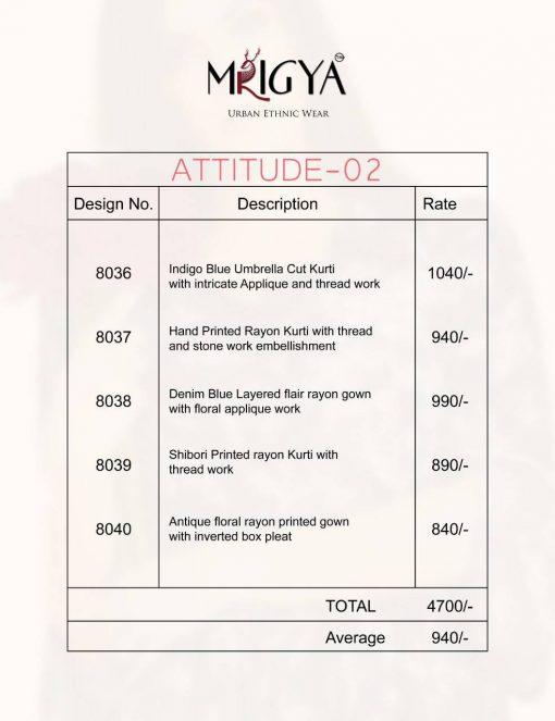 Mrigya Attitude Vol 2 Kurti Wholesale Catalog 5 Pcs 8 510x663 - Mrigya Attitude Vol 2 Kurti Wholesale Catalog 5 Pcs
