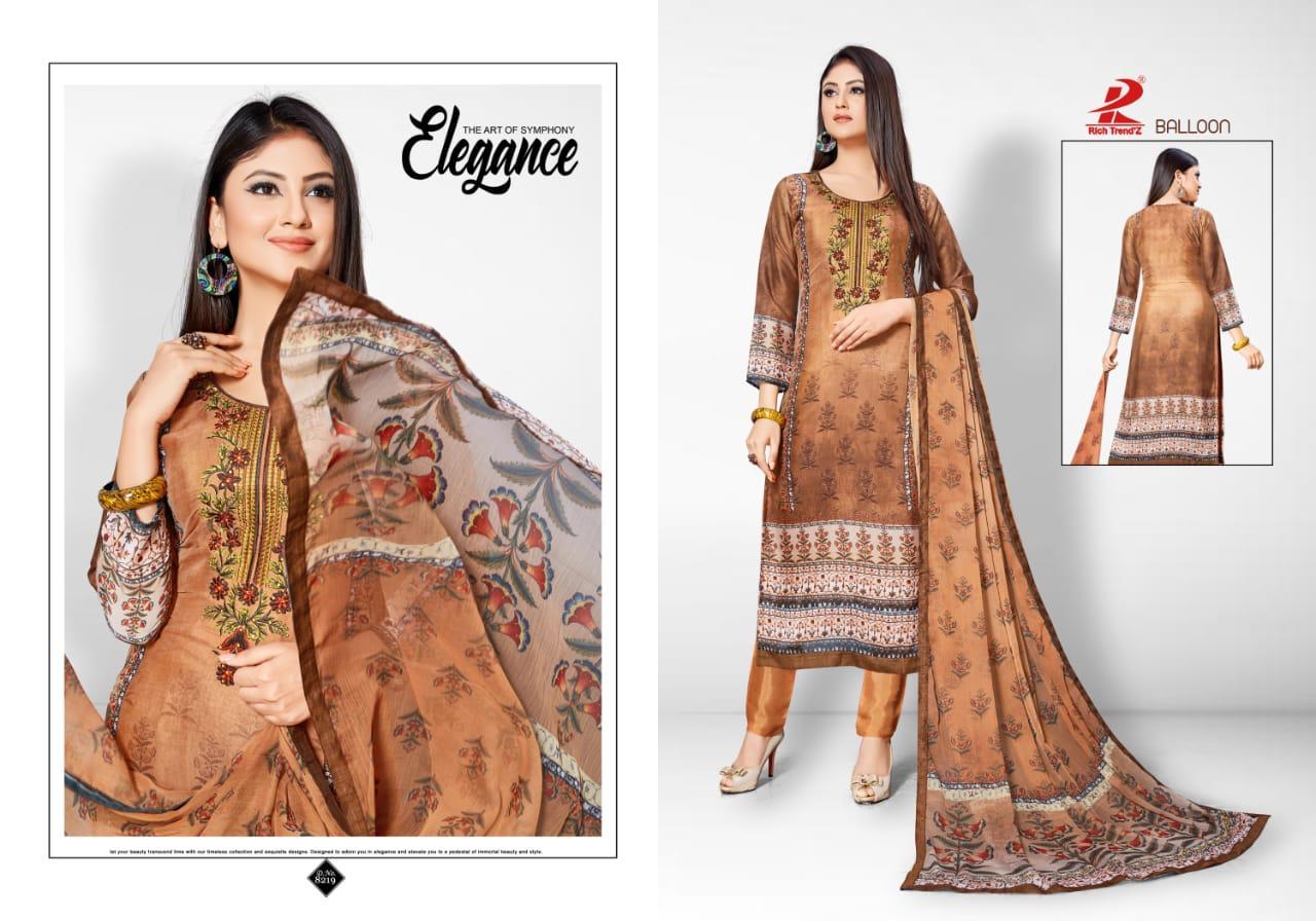 Rich Trendz Balloon Salwar Suit Wholesale Catalog 8 Pcs 3 - Rich Trendz Balloon Salwar Suit Wholesale Catalog 8 Pcs