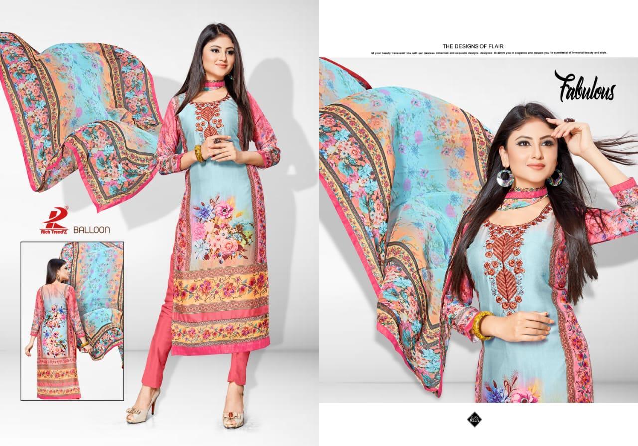 Rich Trendz Balloon Salwar Suit Wholesale Catalog 8 Pcs 4 - Rich Trendz Balloon Salwar Suit Wholesale Catalog 8 Pcs