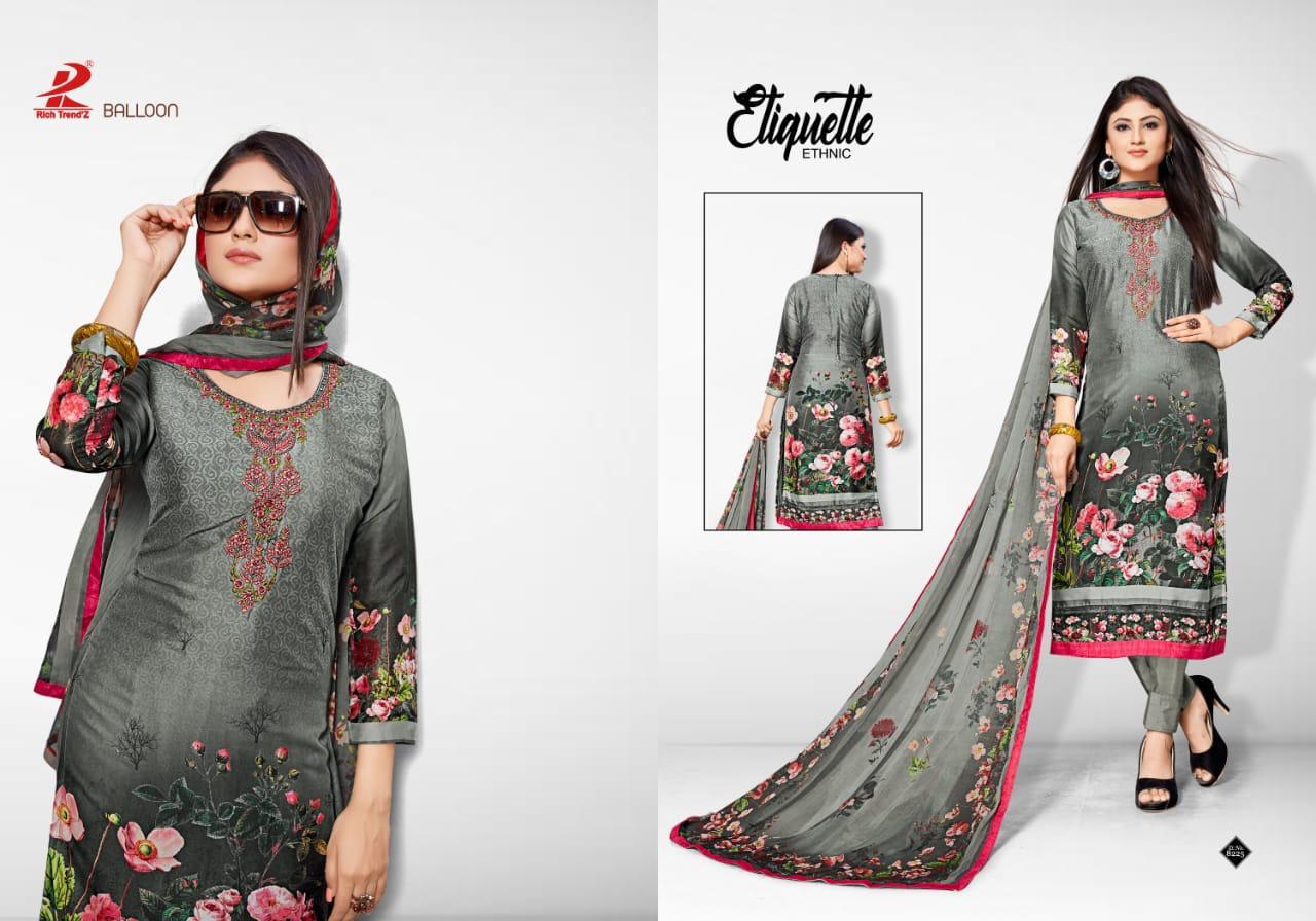 Rich Trendz Balloon Salwar Suit Wholesale Catalog 8 Pcs 8 - Rich Trendz Balloon Salwar Suit Wholesale Catalog 8 Pcs