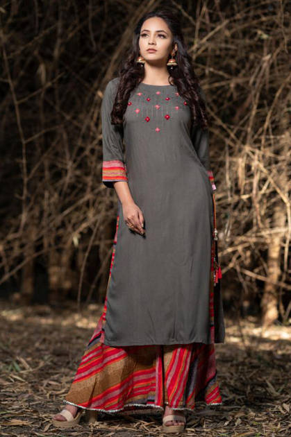 Psyna Sharrara Kurti Wholesale Catalog 7 Pcs