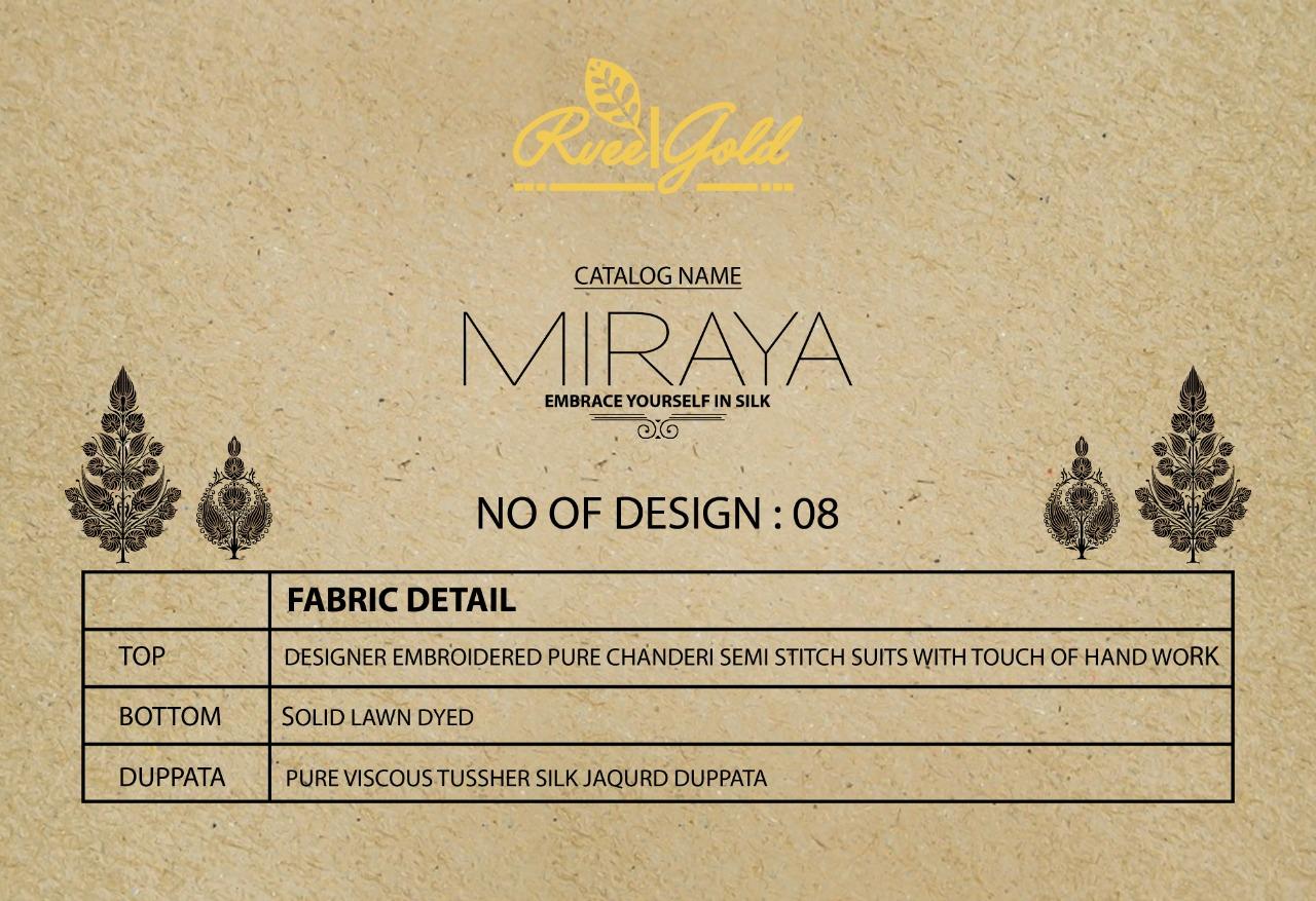 Rvee Gold Miraya Salwar Suit Wholesale Catalog 8 Pcs 11 - Rvee Gold Miraya Salwar Suit Wholesale Catalog 8 Pcs
