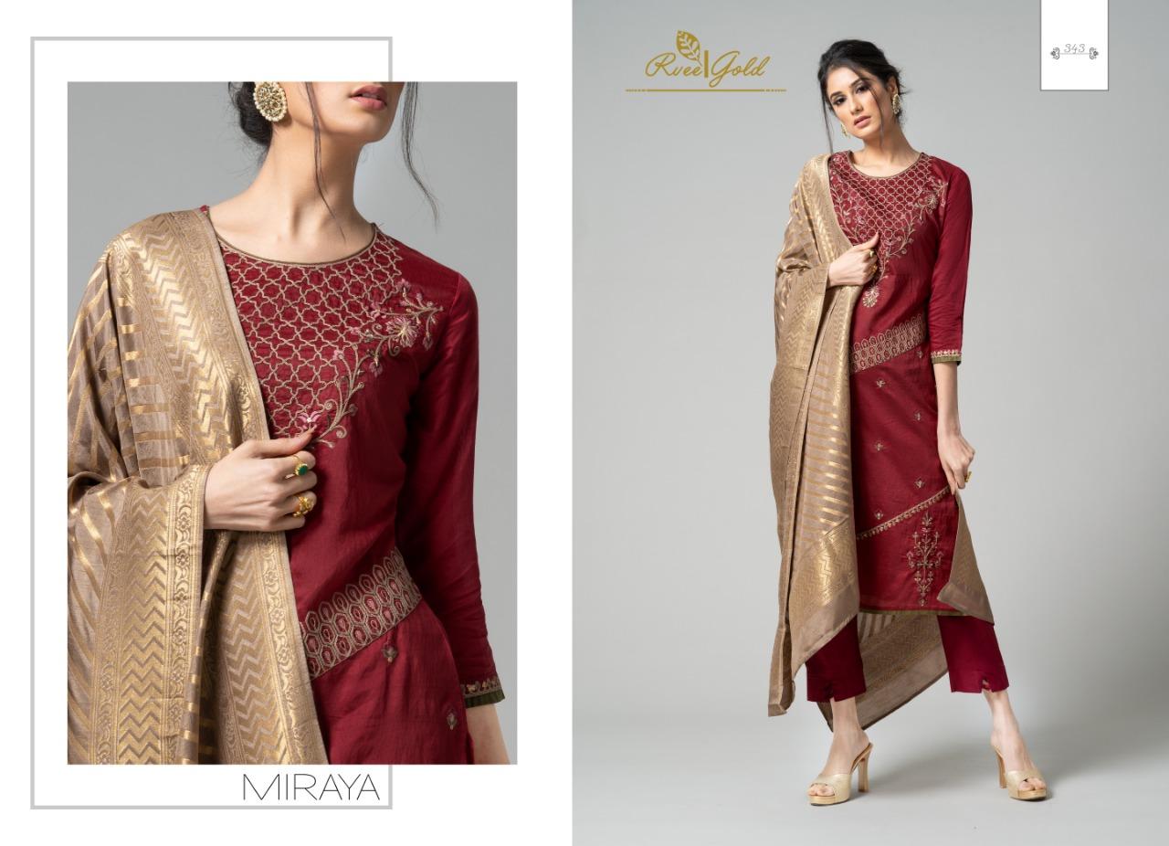 Rvee Gold Miraya Salwar Suit Wholesale Catalog 8 Pcs 4 - Rvee Gold Miraya Salwar Suit Wholesale Catalog 8 Pcs