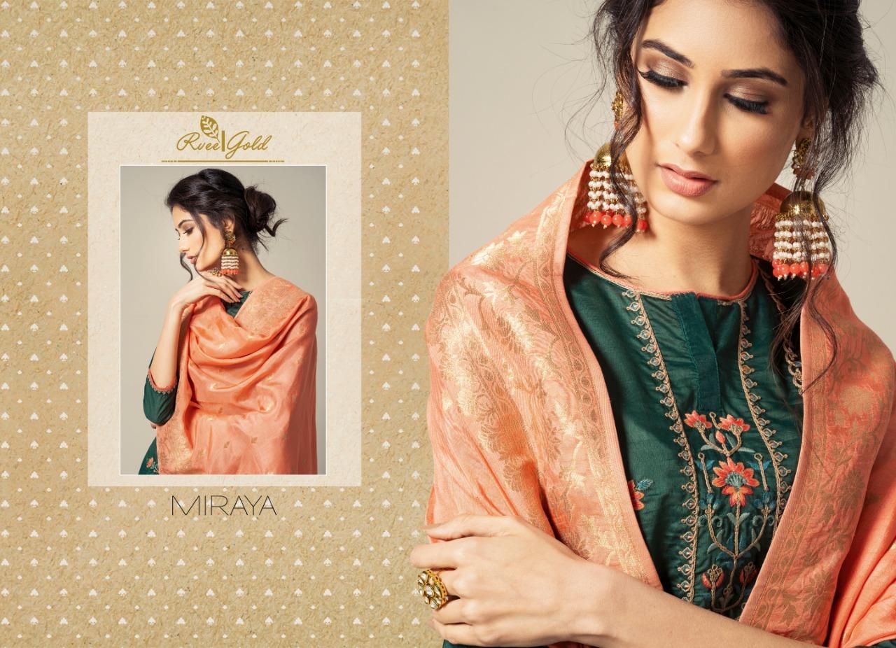 Rvee Gold Miraya Salwar Suit Wholesale Catalog 8 Pcs 7 - Rvee Gold Miraya Salwar Suit Wholesale Catalog 8 Pcs