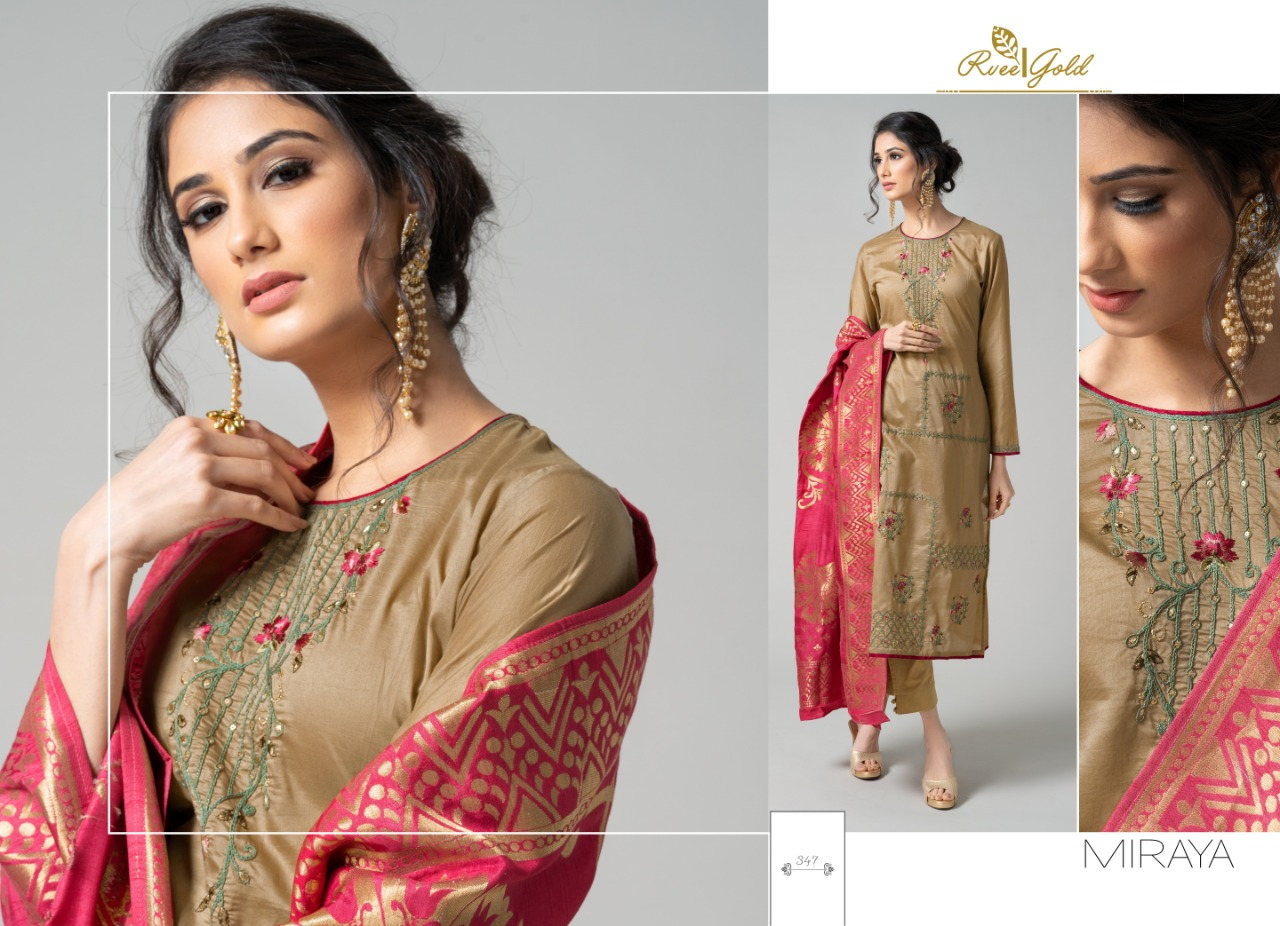 Rvee Gold Miraya Salwar Suit Wholesale Catalog 8 Pcs 8 - Rvee Gold Miraya Salwar Suit Wholesale Catalog 8 Pcs
