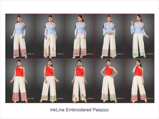 Varun Inkline Embroidered Palazzo Wholesale Catalog 10 Pcs 11 510x383 - Varun Inkline Embroidered Palazzo Vol 3 Wholesale Catalog 10 Pcs