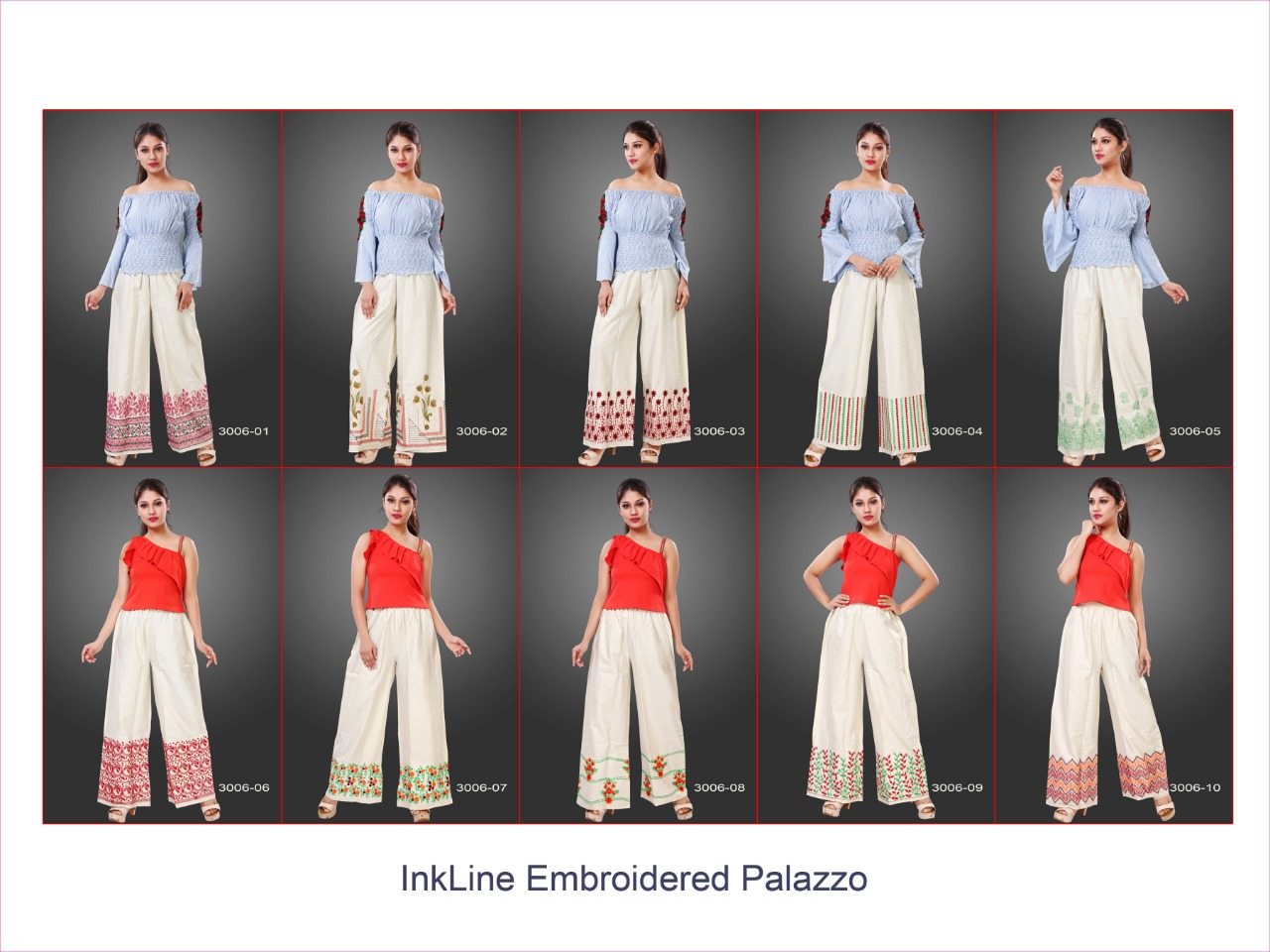 Varun Inkline Embroidered Palazzo Wholesale Catalog 10 Pcs 11 - Varun Inkline Embroidered Palazzo Vol 3 Wholesale Catalog 10 Pcs