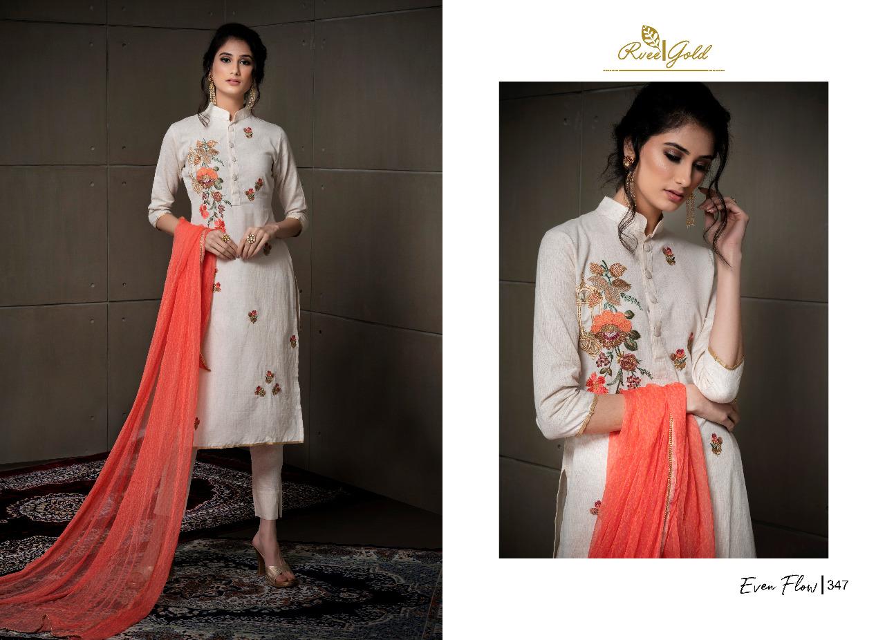 Rvee Gold Even Flow Salwar Suit Wholesale Catalog 8 Pcs 1 - Rvee Gold Even Flow Salwar Suit Wholesale Catalog 8 Pcs