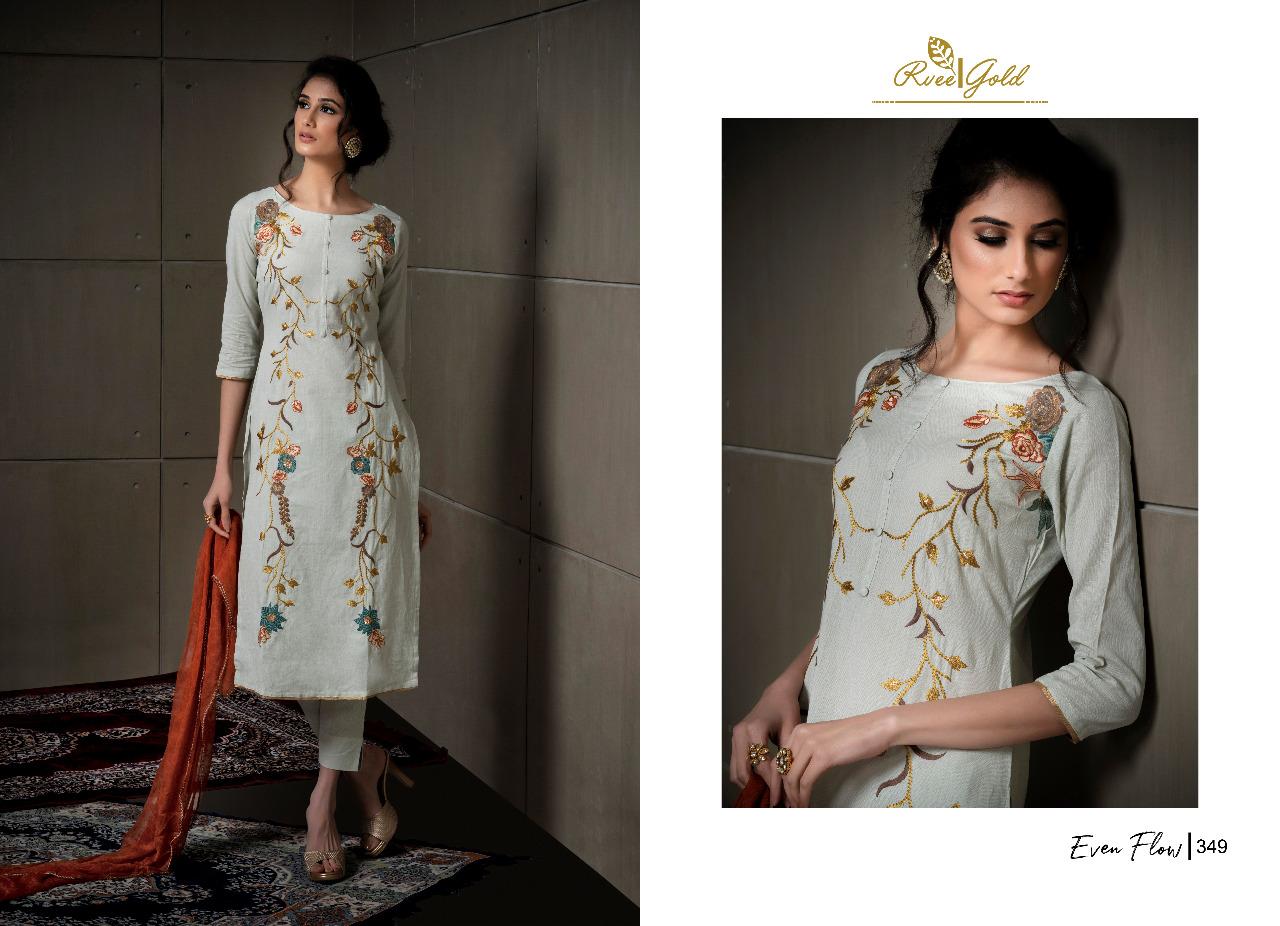 Rvee Gold Even Flow Salwar Suit Wholesale Catalog 8 Pcs 3 - Rvee Gold Even Flow Salwar Suit Wholesale Catalog 8 Pcs
