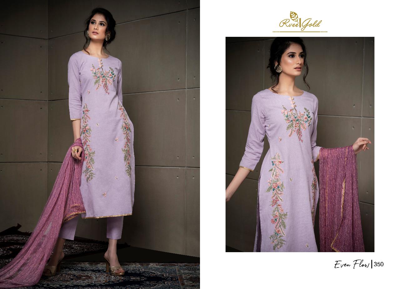 Rvee Gold Even Flow Salwar Suit Wholesale Catalog 8 Pcs 4 - Rvee Gold Even Flow Salwar Suit Wholesale Catalog 8 Pcs