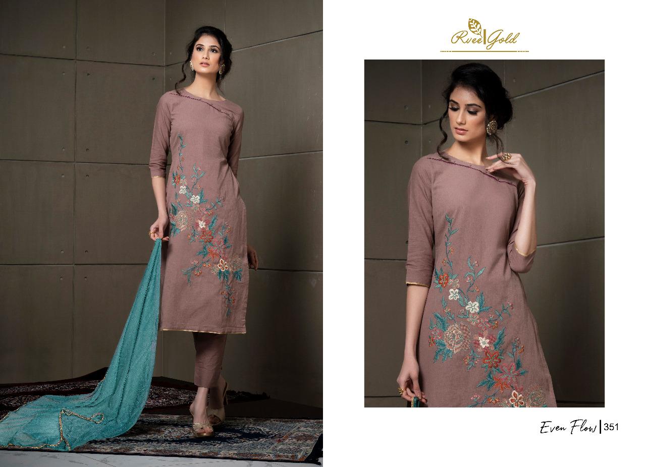 Rvee Gold Even Flow Salwar Suit Wholesale Catalog 8 Pcs 6 - Rvee Gold Even Flow Salwar Suit Wholesale Catalog 8 Pcs
