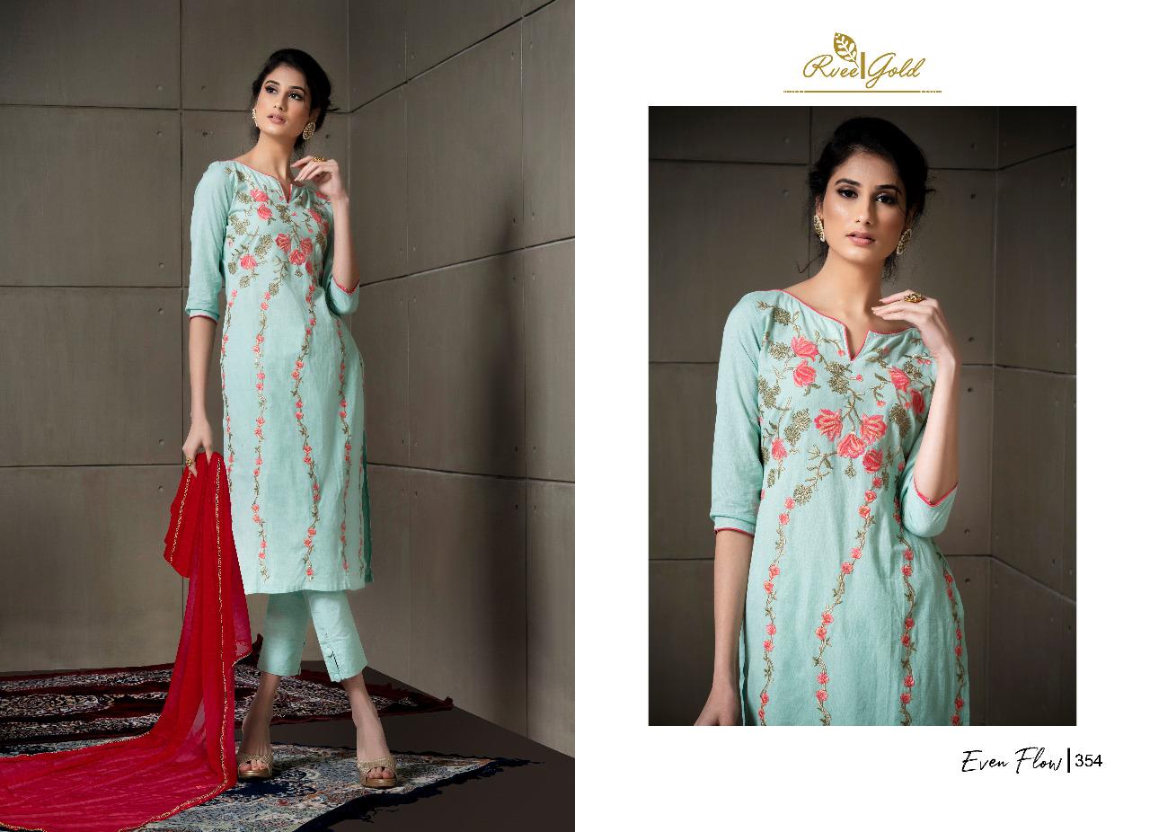Rvee Gold Even Flow Salwar Suit Wholesale Catalog 8 Pcs 8 - Rvee Gold Even Flow Salwar Suit Wholesale Catalog 8 Pcs
