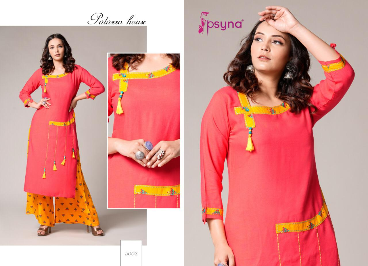 Psyna Palazzo House Vol 5 Kurti with Palazzo Wholesale Catalog 10 Pcs 10 - Psyna Palazzo House Vol 5 Kurti with Palazzo Wholesale Catalog 10 Pcs