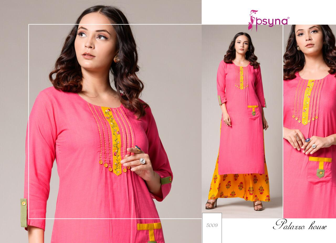Psyna Palazzo House Vol 5 Kurti with Palazzo Wholesale Catalog 10 Pcs 5 - Psyna Palazzo House Vol 5 Kurti with Palazzo Wholesale Catalog 10 Pcs