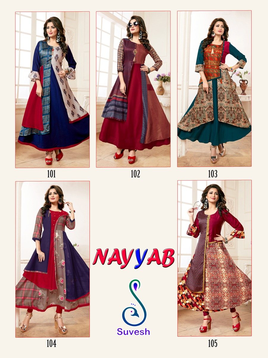 Suvesh Nayyab Kurti Wholesale Catalog 5 Pcs 11 - Suvesh Nayyab Kurti Wholesale Catalog 5 Pcs
