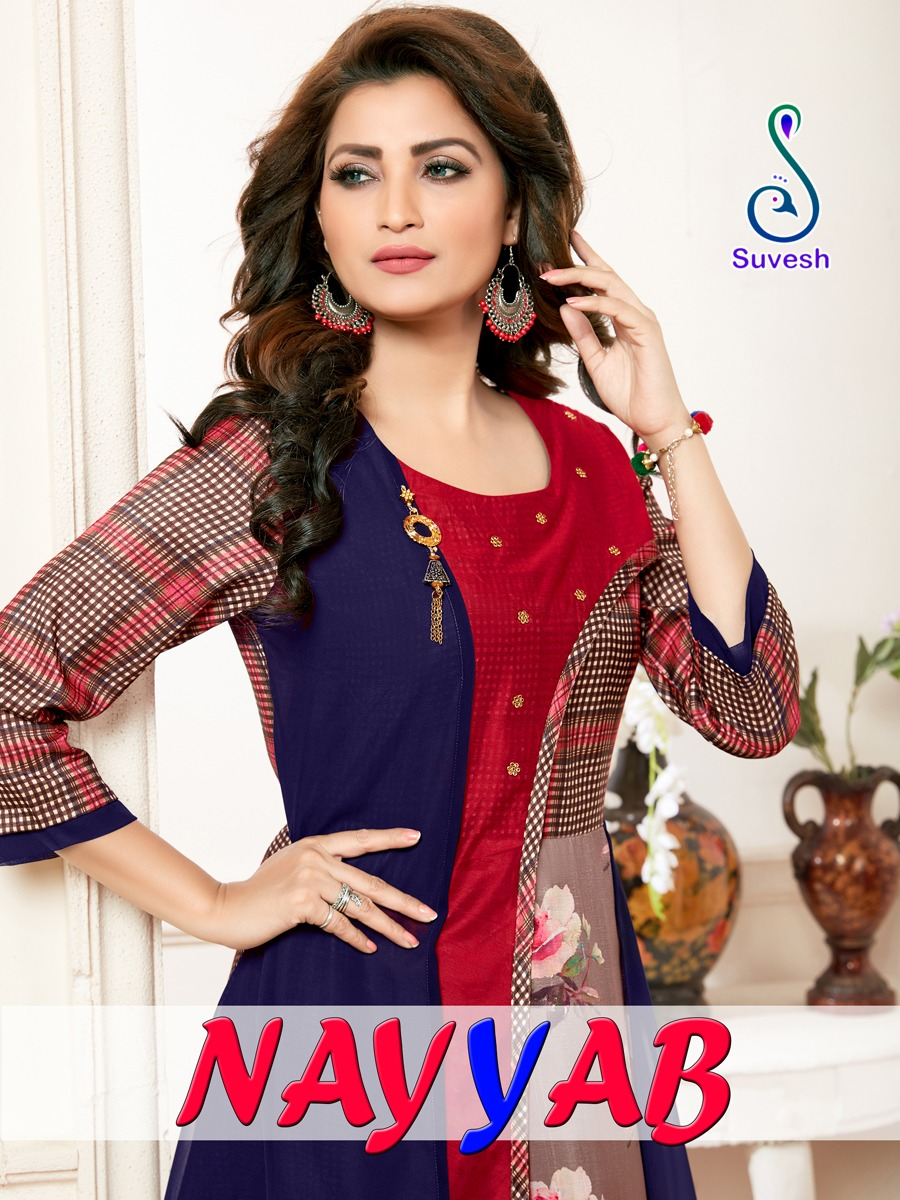 Suvesh Nayyab Kurti Wholesale Catalog 5 Pcs 12 - Suvesh Nayyab Kurti Wholesale Catalog 5 Pcs