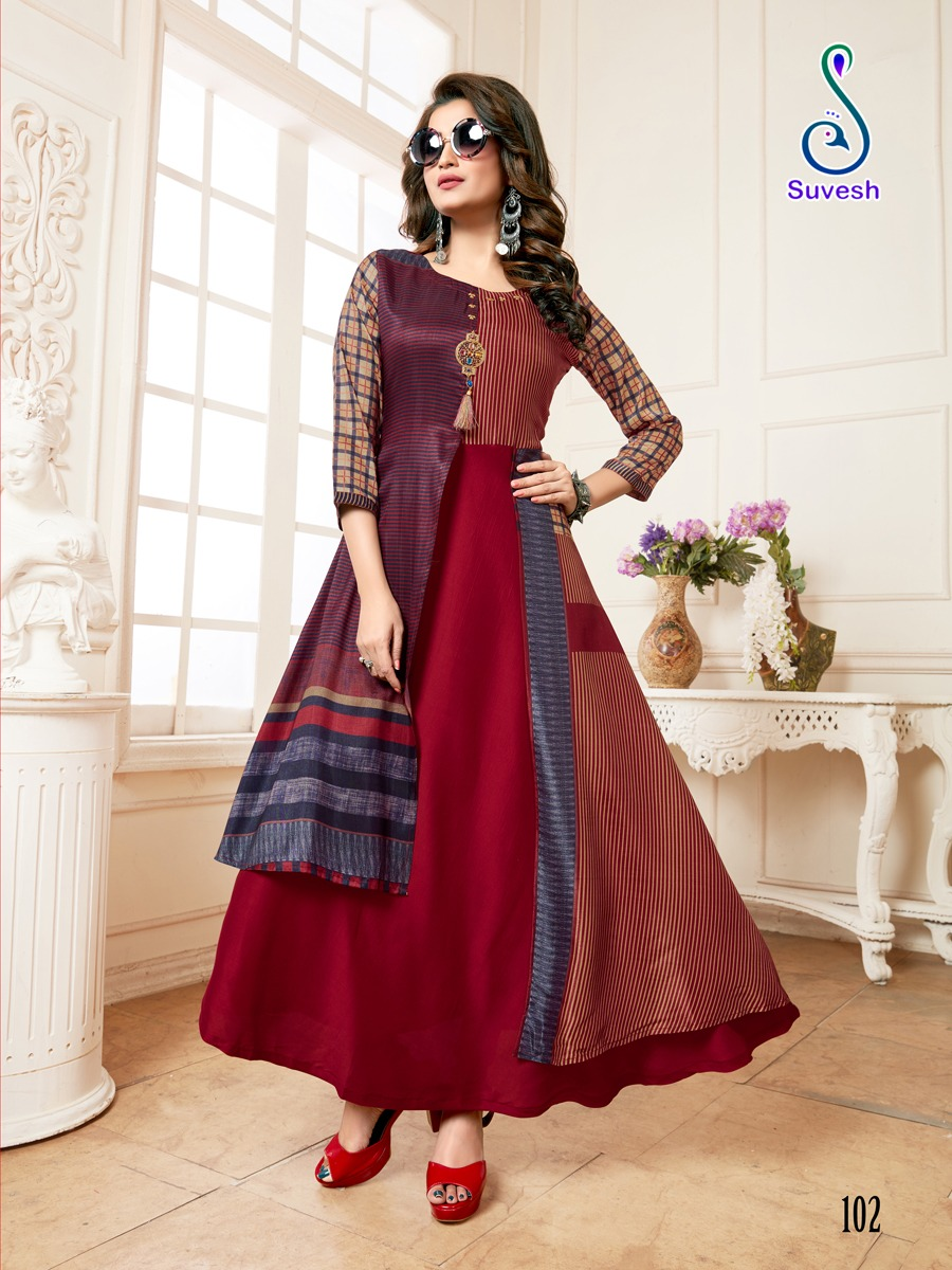 Suvesh Nayyab Kurti Wholesale Catalog 5 Pcs 5 - Suvesh Nayyab Kurti Wholesale Catalog 5 Pcs