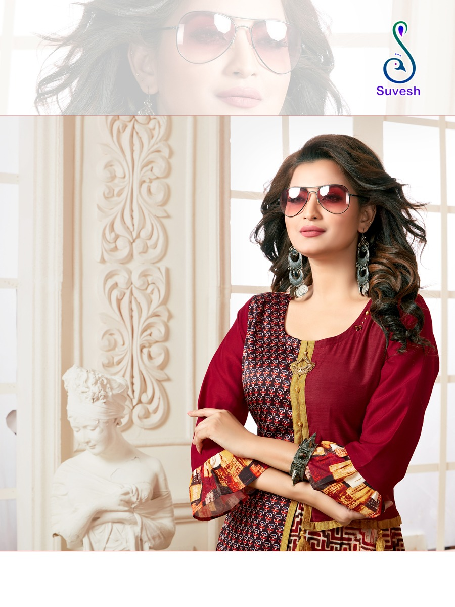 Suvesh Nayyab Kurti Wholesale Catalog 5 Pcs 9 - Suvesh Nayyab Kurti Wholesale Catalog 5 Pcs