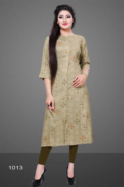 Avashya Rayon A-Line D1013 Kurti Size Set Wholesale 3 Pcs