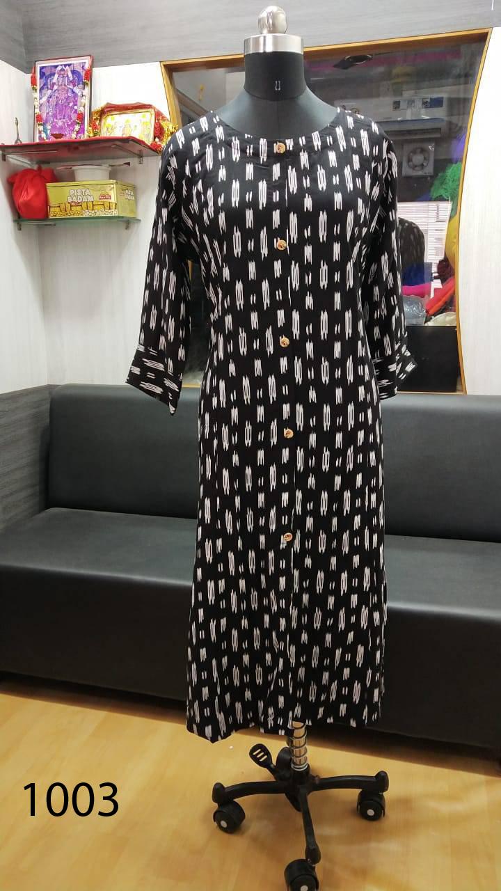Avashya Rayon A Line D1003 Kurti Size Set Wholesale 3 Pcs 1 - Avashya Rayon A-Line D1003 Kurti Size Set Wholesale 3 Pcs