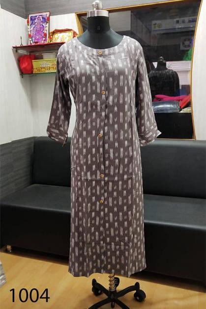 Avashya Rayon A-Line D1004 Kurti Size Set Wholesale 3 Pcs